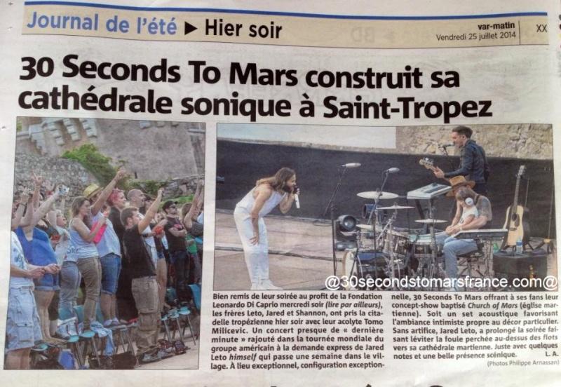 RETOUR PRESSE de la tournée d'été 2014 de 30 SECONDS TO MARS Presse14