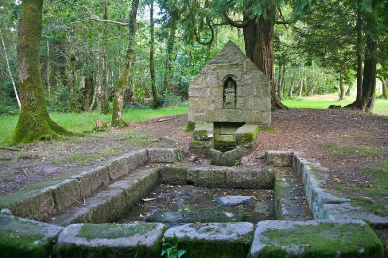 Cast : chapelle et fontaine Saint Gildas Fontai10