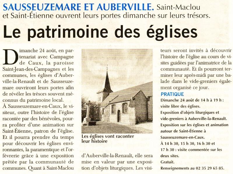 Le patrimoine des églises de Sausseuzemare et Auberville 2014-046