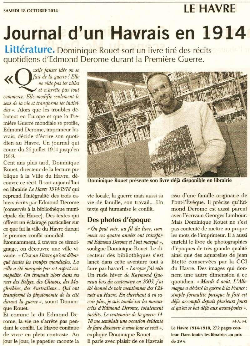 Journal - DEROME Journal d'un Havrais en 1914 2014-114