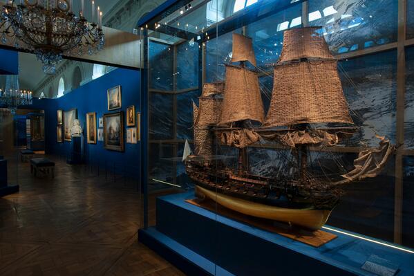 Maquettes de la Marine impériale, Grand Trianon, juin 2014 Bq01ib10