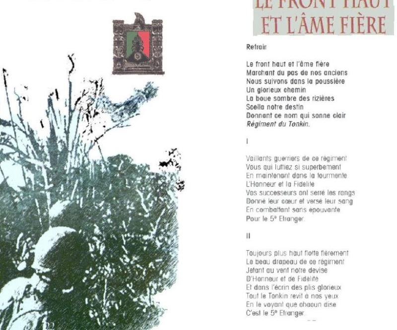 LE FRONT HAUT      LEGION ETRANGERE  CHANT  5 RMP  (dissous) A510