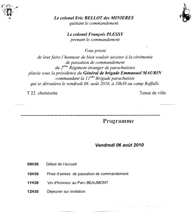 PASSATION DE COMMANDEMENT  CHEFS DE CORPS  2 REP 2010 File0512