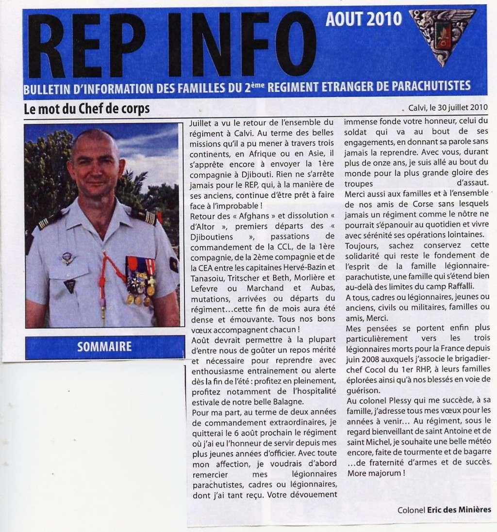 REP INFO AOUT 2010 ,  2 REP legion etrangere   File0513