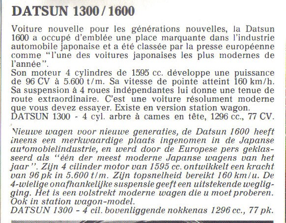 TOPIC OFFICIEL DATSUN 510... Voiture mythique! - Page 2 510-1319