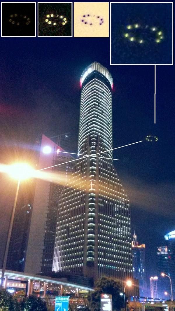 Un OVNI photographié en plein centre de Shanghai Flare10