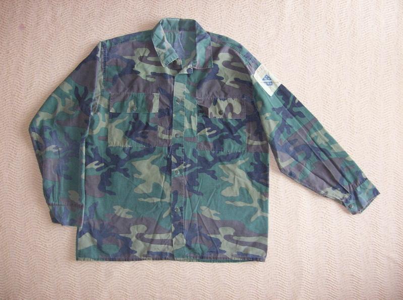Bosnian woodland camouflage jacket & shirt 100_1110