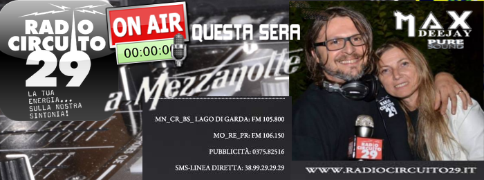 Questa sera su RC29: MAX TESTA Rc29me11