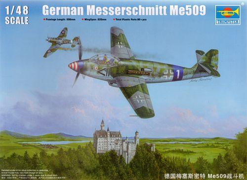 """Messerschmitt Me 509 A-1 """"Sperber"""" (1:48 - TRUMPETER) Tu028410"""