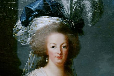 Portraits de Marie-Antoinette au livre, en robe bleue, par Vigée Le Brun (1785 - 1788 ?) Ma178810
