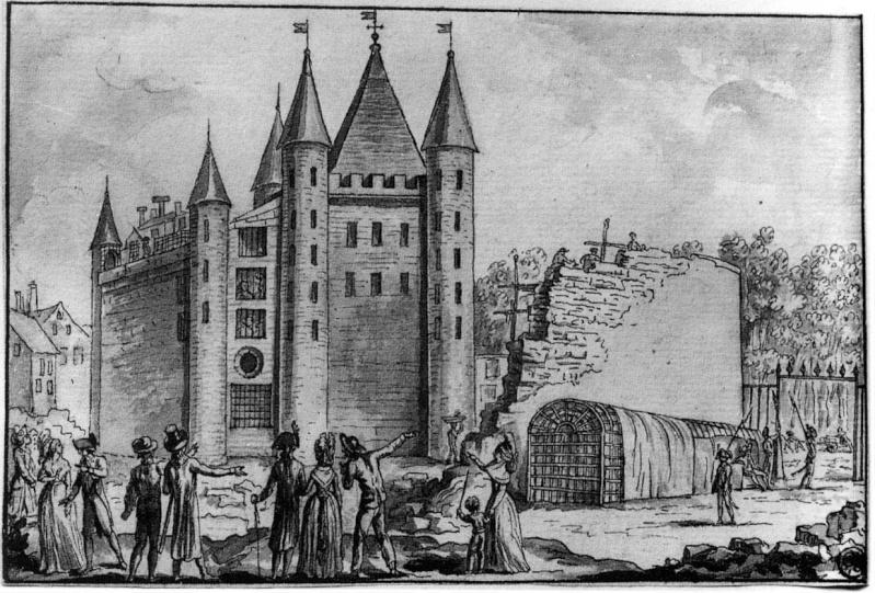 Plans et aménagements du donjon du Temple : la grande tour, la petite tour Murpal10