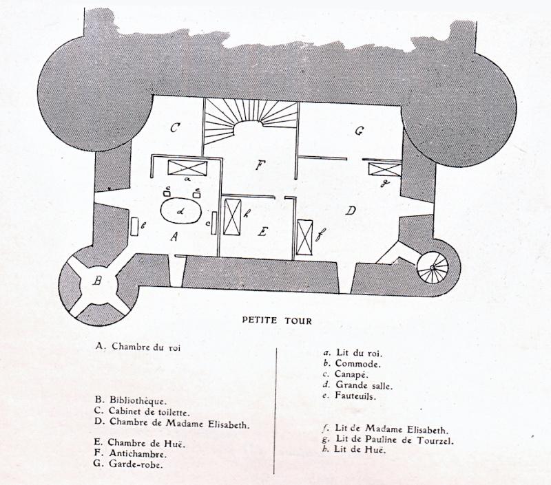 Plans et aménagements du donjon du Temple : la grande tour, la petite tour Temple11
