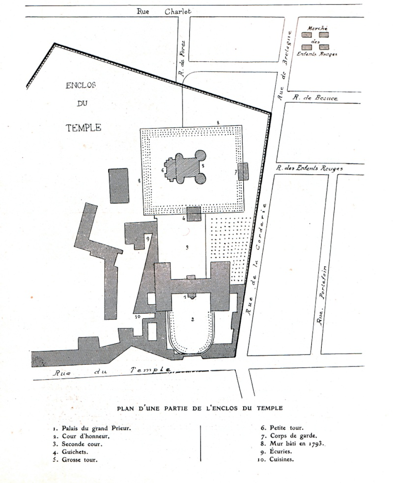 Plans et aménagements du donjon du Temple : la grande tour, la petite tour Temple13