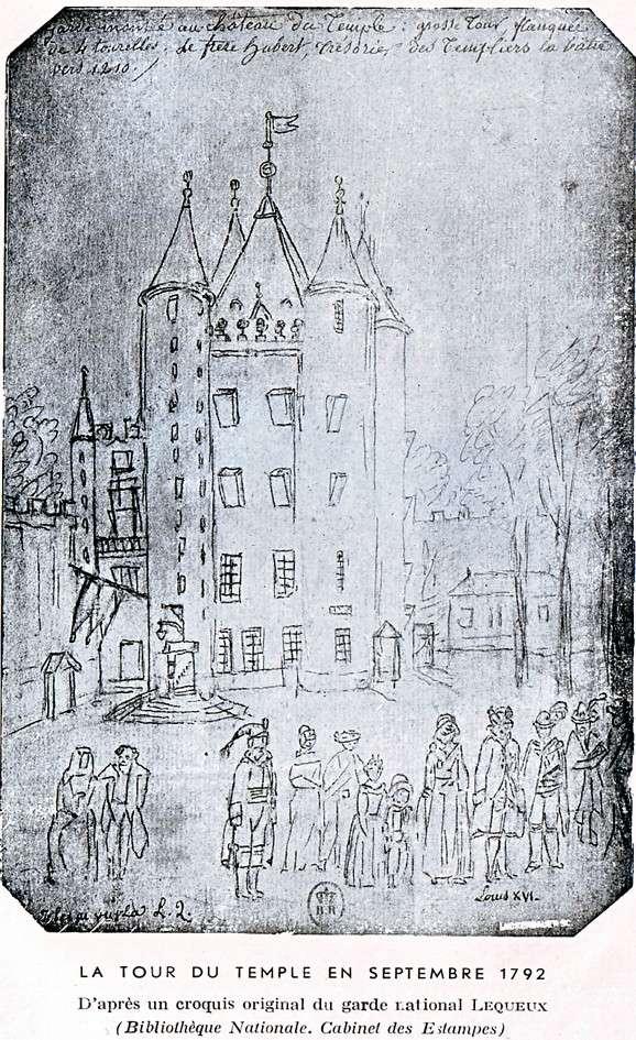 Plans et aménagements du donjon du Temple : la grande tour, la petite tour Temple15