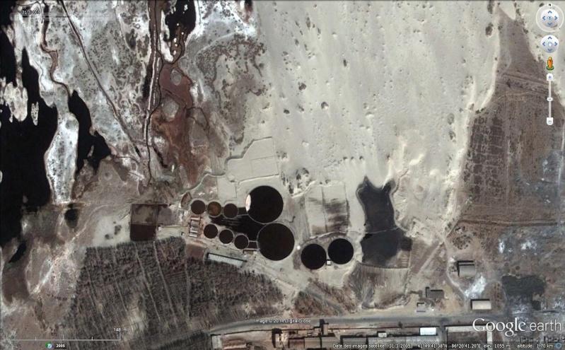 Bassins de décantation ou de rétention d'eau, Bayingol, Xinjiang - Chine Sans_276