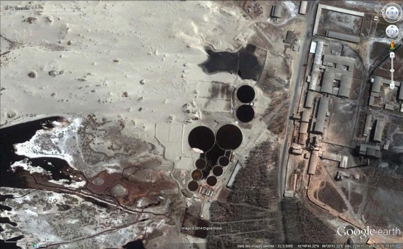 Bassins de décantation ou de rétention d'eau, Bayingol, Xinjiang - Chine Sans_277