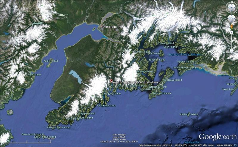 STREET VIEW : Une ballade à Seward en Alaska - USA Sans_298