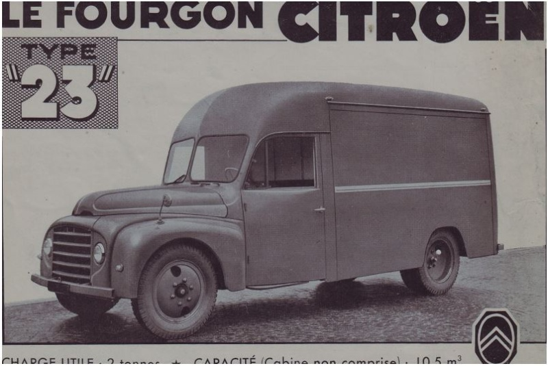 Citroën type 23.50 Pompiers 3 places carrosserie Pepel Capt1831