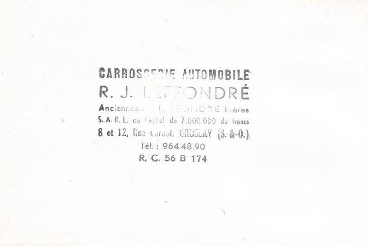 La Carrosserie LEFFONDRE Citroe11