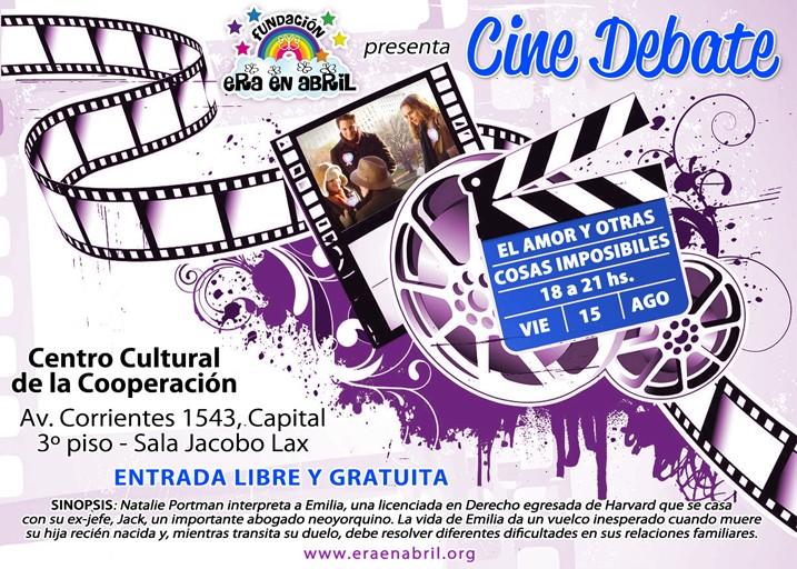 15/08/14: Te invitamos al CINE-DEBATE de la Fundación (Bs As) Cinede11