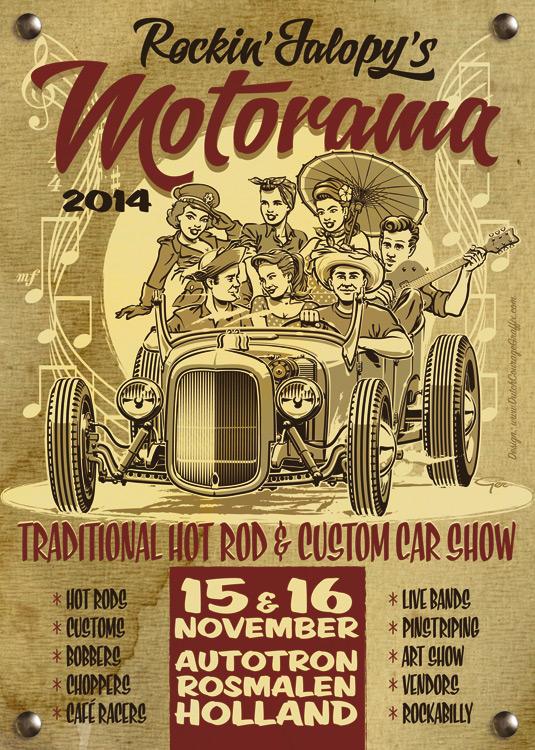 15 et 16 novembre 2014 Hot rod Rosmalen Flyer110