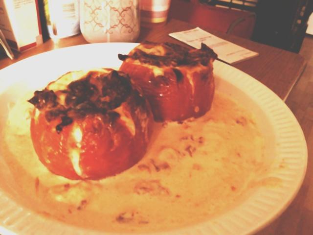 [Végétarien] Tomates crème fraîche, camembert et seitan Tomate11