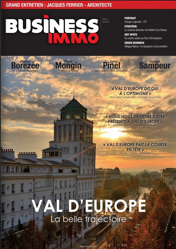 Hors Série Business Immo 2014 consacré à Val d'Europe Busine10