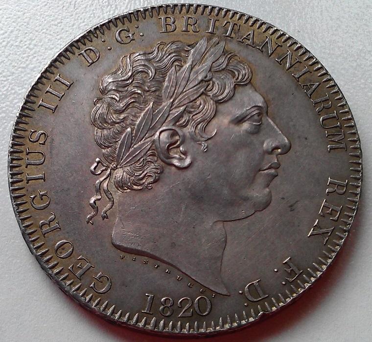 1 corona (crown) 1820  Georgius III   - Dedicada a mi amigo Emiliano Imag1210