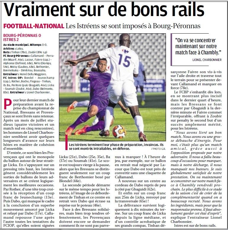 FC BOURG  EN BRESSE PERONNAS Football Bourg en Bresse Péronnas 01.  716