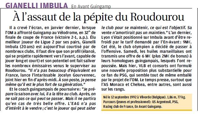 GIANELLI IMBULA,  MEILLEUR JOUEUR DE LIGUE 2 ET EX- PEPITE DU ROUDOUROU  8d_bmp11