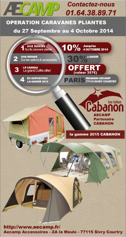 operation Aecamp sur pliante cabanon Captur22