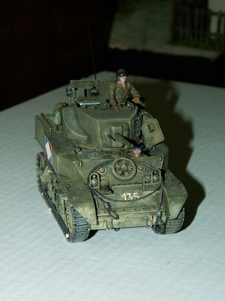 US light tank M5A1 Tamiya - Willys Jeep with trailer Italeri les deux au 1/35e Combat18