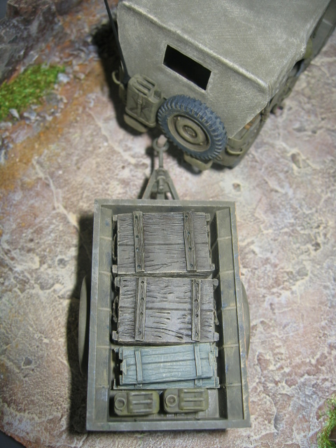 US light tank M5A1 Tamiya - Willys Jeep with trailer Italeri les deux au 1/35e Photo_30