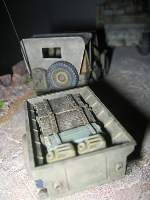 US light tank M5A1 Tamiya - Willys Jeep with trailer Italeri les deux au 1/35e Photo_47