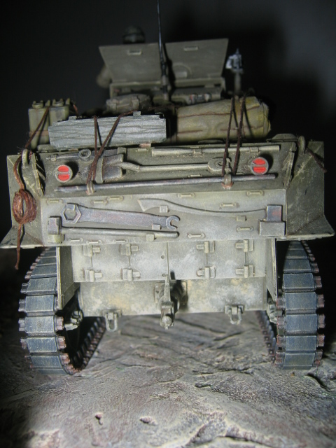 US light tank M5A1 Tamiya - Willys Jeep with trailer Italeri les deux au 1/35e Photo_48