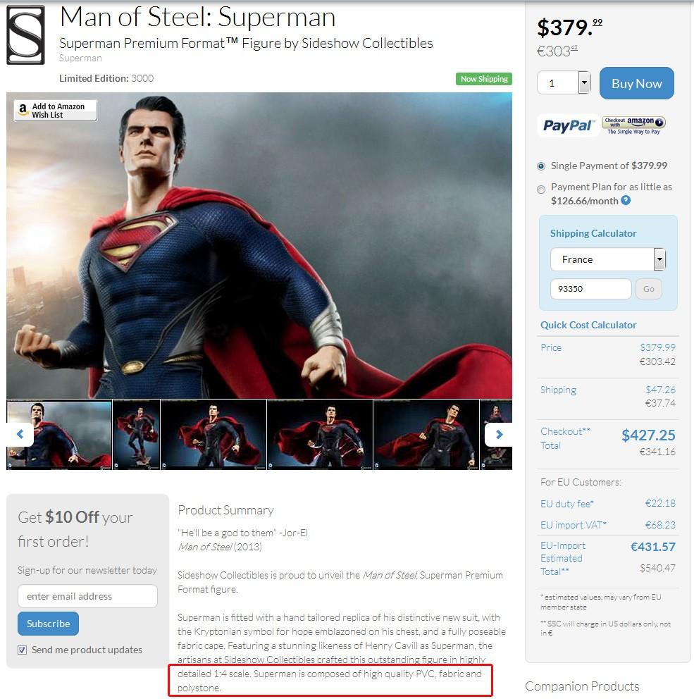 MAN OF STEEL SUPERMAN PREMIUM FORMAT FIGURE - Page 4 Pvc10