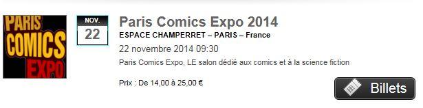 Paris Comics Expo - 22 & 23 Novembre 2014 Billet10