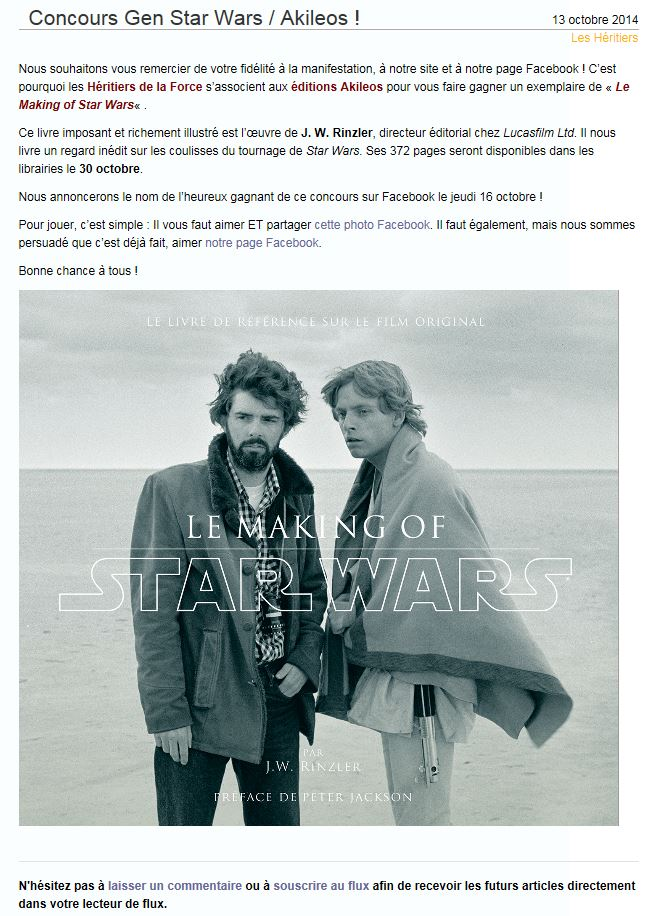 Générations Star Wars & SF - Cusset (03) 02-03 Mai 2015   Concou10
