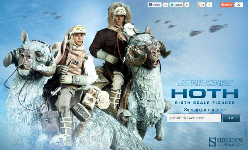 Sideshow Collectible - Luke, Han & Tauntaun Hoth Planet Hoth_010