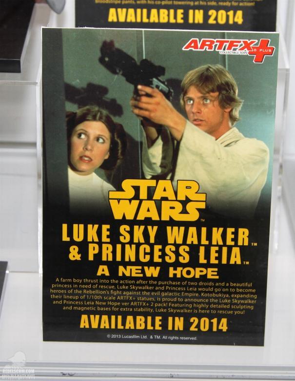 Kotobukiya - Luke & Leia A New Hope - ARTFX+ Statues 2 packs Koto_l10