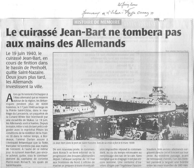 19 Juin 1940, St Nazaire, le JEAN BART s'évade !.. - Page 2 Jean_b14