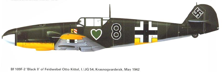 Photo Bf109F Otto Kittel Bf109f19