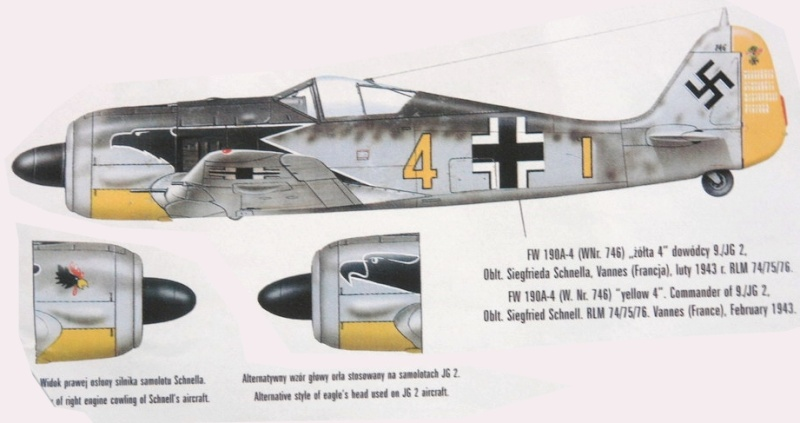 Montage: trio de Fw190A3/A4 1/72 Fw190a12