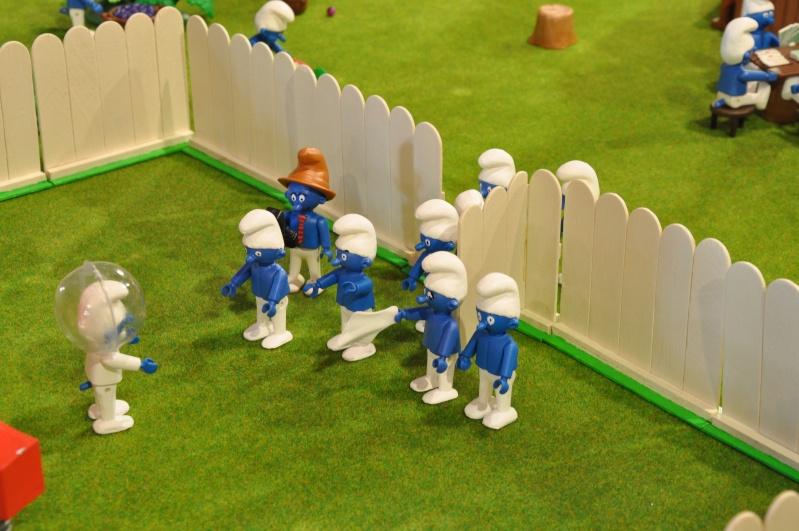 le village playmobil-schtroumpf Objat_10