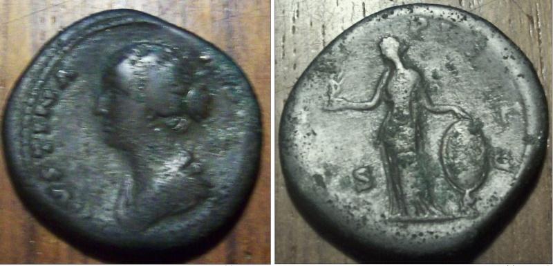 Sesterce Faustine buste à gauche Sester15