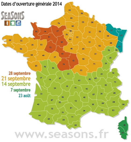 2014/2015 dates par départements 54857710