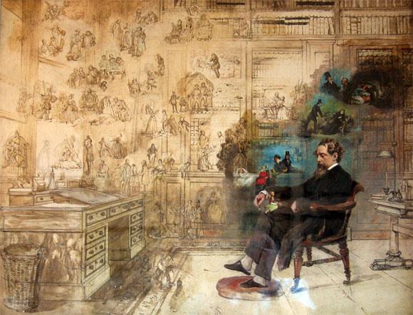 La maison de Charles Dickens à Londres. Dicken10