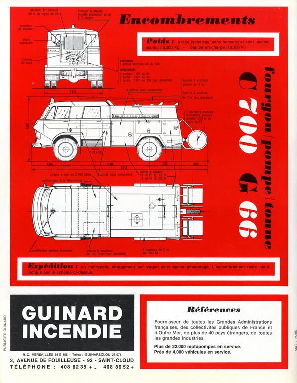 les pompiers : Pompes GUINARD A420b710