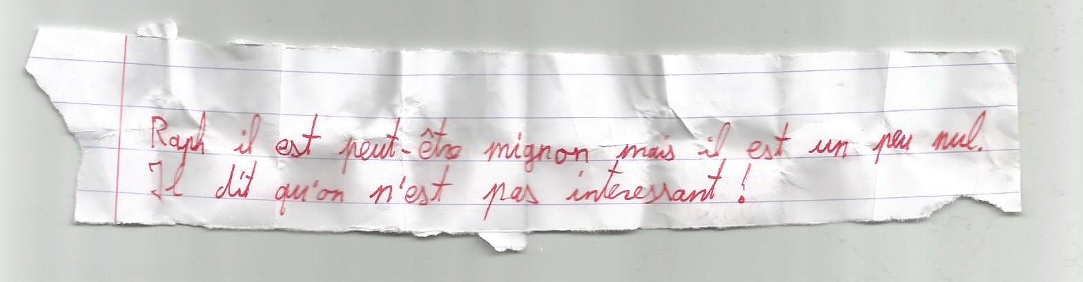 [Fan-art du VdF] Les petits mots en classe Billet14