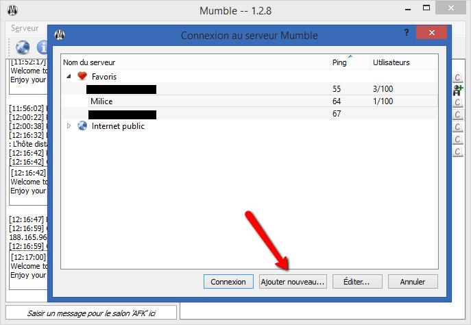 Comment installer et utiliser le Mumble de la Milice Mumble11
